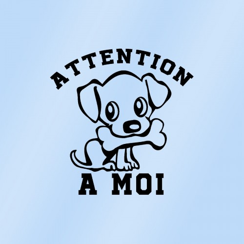 Autocollant attention à moi (chien a bord)
