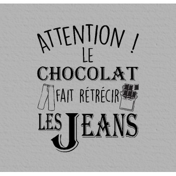 Autocollant attention le choco..